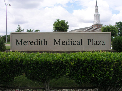 Cast Stone Sign in Dallas TX | Medical Center