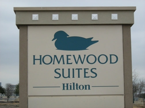 Custom Stone Sign in Dallas TX | Homewood Suites by Hilton
