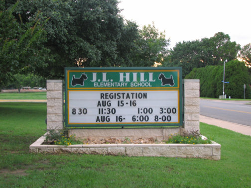 Custom Signs in Dallas Area | Hancock Sign Company | J.L. Hill School's Custom Sign