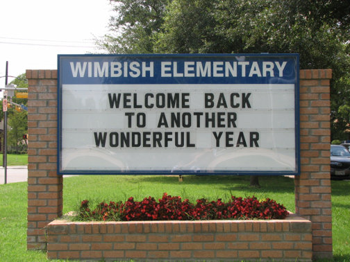 Custom Signs in Dallas Area | Hancock Sign Company | Wimbish Elementary School's Custom Sign