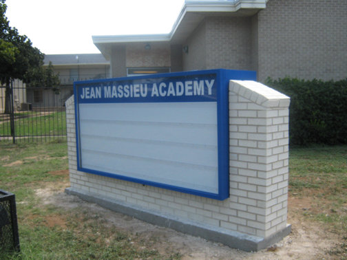 Custom Signs in Dallas Area | Hancock Sign Company | Massieu Academy's School Sign